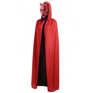 Halloween Cosplay Ghost Hooded Cloak - Red - L