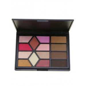 14 Colors Multifunction Eyeshadow Brow Powder Palette - Black
