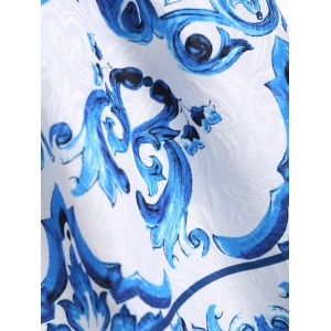 Baroque Print Semelle A Line Dress -