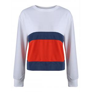 Casual Striped Color Block Sweatshirt