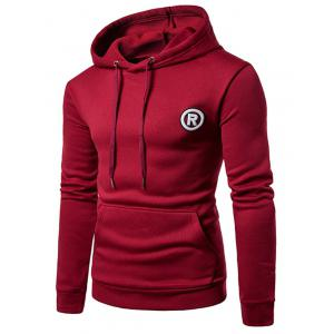 Fleece Graphic Appliques Pullover Hoodie