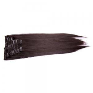 Long Clip In Straight Hair Extension - COFFEE