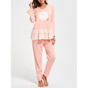 Flounce Cotton Nursing Loungewear Set