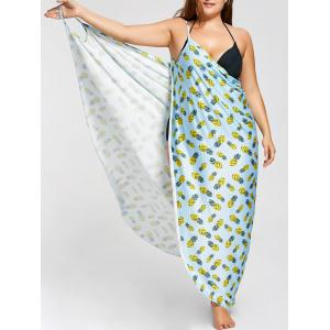 Plus Size Cover Up Wrap Maxi Dress