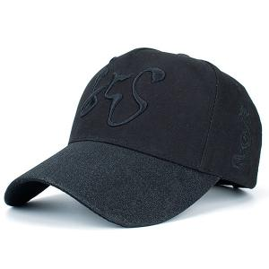Dragon Totem Chinese Character Embroidery Baseball Cap - Black - 2xl
