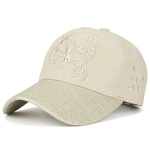 Dragon Totem Pattern Baseball Cap - Beige