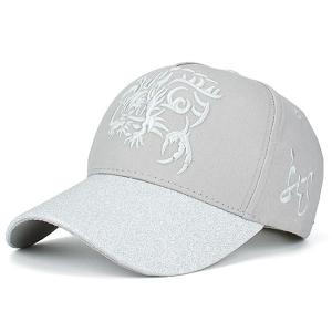 Dragon Totem Pattern Baseball Cap - Gray
