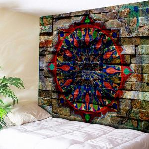 Graphic Brick Wall Bedroom Tapestry