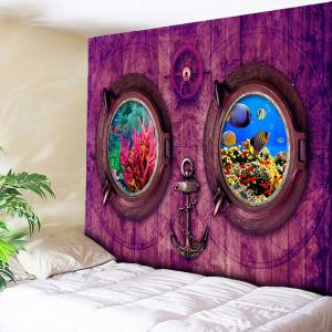 Wood Submarine Printed Wall Hanging Tapestry