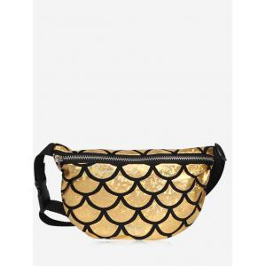 Scale Pattern Zipper Fanny Pack