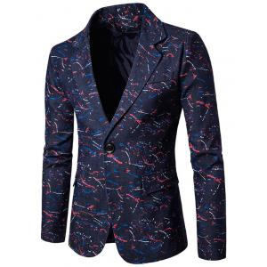Splatter Paint Lapel One Button Blazer