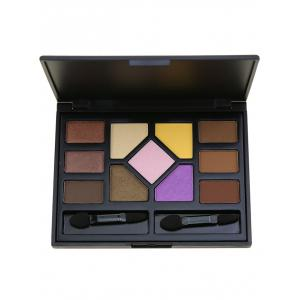 11 Colors Brow Powder Eyeshadow Palette and 2Pcs Brushes