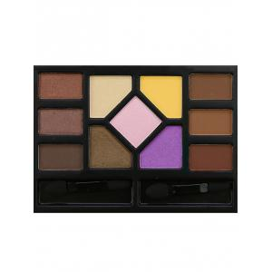 11 Colors Brow Powder Eyeshadow Palette and 2Pcs Brushes -