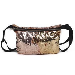 Color Block Sequins Fanny Pack