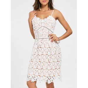 Crochet Cami Mini Lace Dress