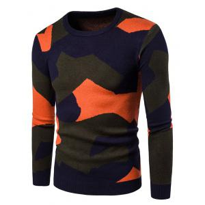 Colorful Camouflage Pullover Sweater