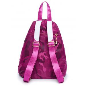 Camouflage Pattern Buttons Backpack - Violet