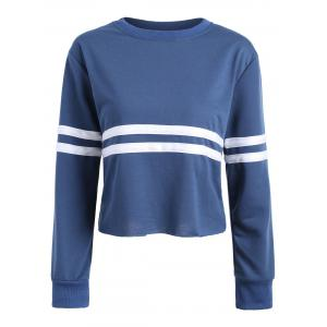 Short Striped Two Tone Sweatshirt