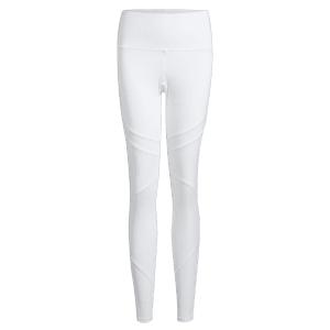 High Waisted Mesh Panel Workout Leggings -