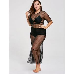Plus Size See Through Cover Up Dress -