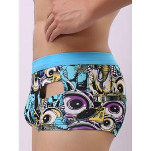 Pouch Design Graphic Print Hollow Trunk -