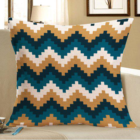 Color Block Geometry Pattern Pillow Case - Colorful - W18 Inch * L18 Inch
