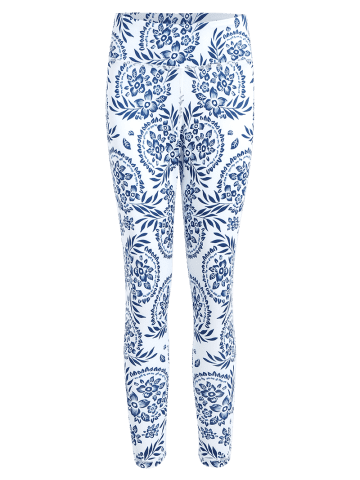 Discount Paisley Printed High Waist Stretch Yoga Leggings - XL BLUE Mobile