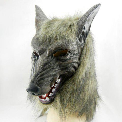 New Halloween Party Accessories Wolf Head Mask - GRAY  Mobile