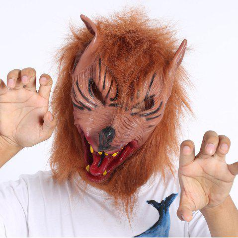 Shop Terror Halloween Cosplay Prop Werewolf Mask - DEEP BROWN  Mobile
