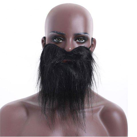 Hot Funny Costume Party Male Halloween Black Fake Mustache - BLACK  Mobile