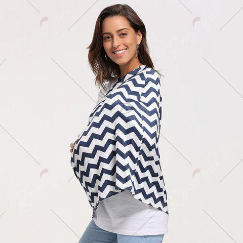 Chic Breastfeeding Wave Striped Nursing Scarf - PURPLISH BLUE  Mobile