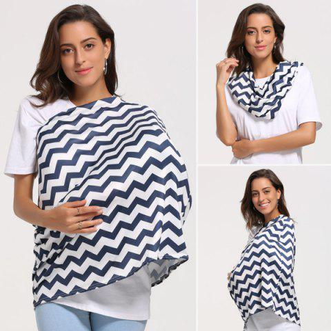 Hot Breastfeeding Wave Striped Nursing Scarf - PURPLISH BLUE  Mobile