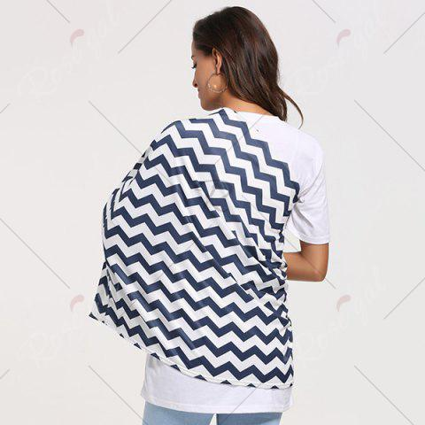 Trendy Breastfeeding Wave Striped Nursing Scarf - PURPLISH BLUE  Mobile