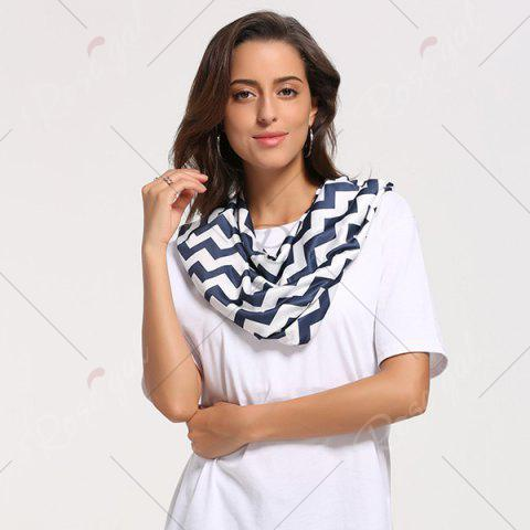 Shops Breastfeeding Wave Striped Nursing Scarf - PURPLISH BLUE  Mobile