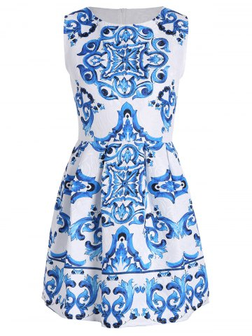 Baroque Print Semelle A Line Dress