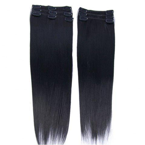 Long Clip In Straight Hair Extension - Photo Black