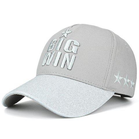 Star Letters Embroidered Baseball Cap - Gray - One Size