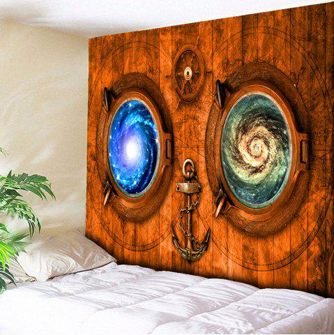 Vortex Wood Grain Print Wall Tapestry - Brown - W79 Inch * L59 Inch