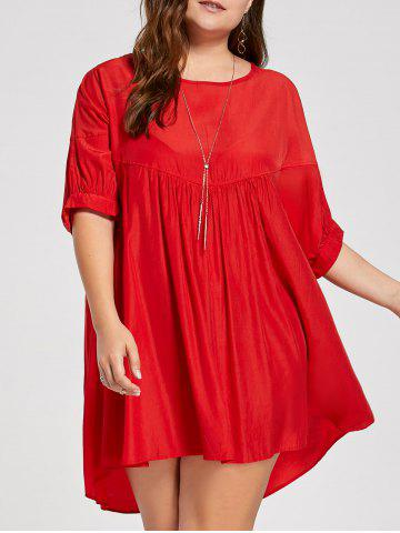 Affordable Plus Size Casual Smock Dress