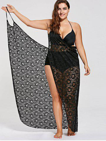 b023422dca Plus Size Lace Wrap Cover Up Dress