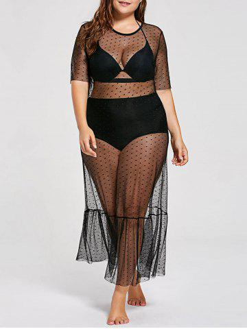 Cheap Plus Size See Through Cover Up Dress