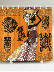 African Tribal Graphic Pattern Shower Curtain