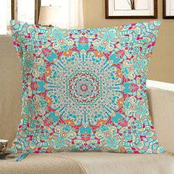 Ethnic Geometry Printed Linen Pillow Case -