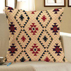 Graphic Pattern Linen Square Pillow Case