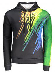 3D Printed Rainbow Watercolor Paint Hoodie