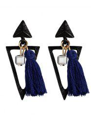 Metal Triangle Tassel Bohemian Earrings