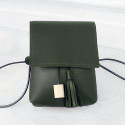 Tassel PU Leather Cross Body Bag