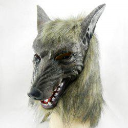 Halloween Party Accessories Wolf Head Mask - GRAY