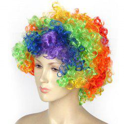 Halloween Party Accessories Rainbow Clown Wig -