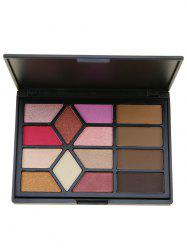 14 Colors Multifunction Eyeshadow Brow Powder Palette